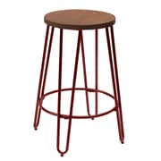 Ace Casual Furniture Quinn 23.82'' Bar Stool; Matte Red