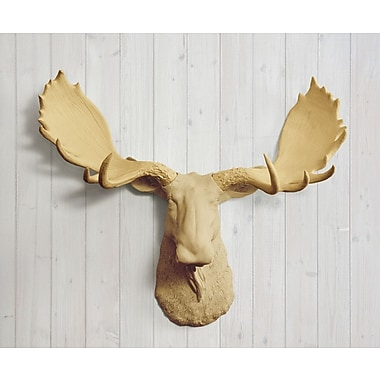 Wall Charmers Alberta Faux Taxidermy Moose Head Wall D cor; Khaki Brown