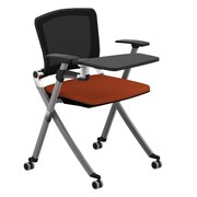 Compel Office Furniture Ziggy 19.25'' Mesh Tablet Desk; Flexi Orange
