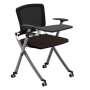 Compel Office Furniture Ziggy 19.25'' Mesh Tablet Desk; Flexi Brown
