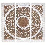 Woodland Imports 3 Piece Panel Wall D cor Set