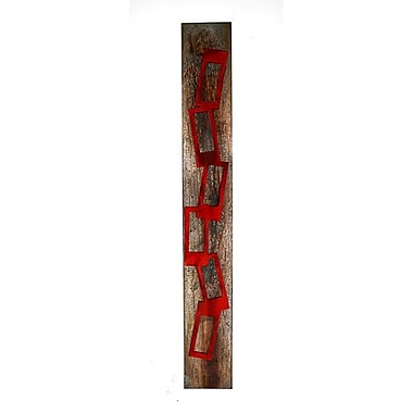 7055 Inc Candy Chains Wall D cor; Candy Red/Distressed Copper