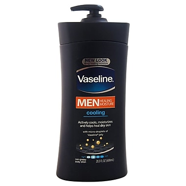 Vaseline Vaseline Men Healing Moisture Cooling Lotion for Dry Skin, 20.3 oz