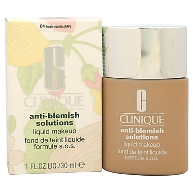 Clinique AntiBlemish Solutions Liquid Makeup#04 Fresh Vanilla(MF)Dry Comb. to Oily Skin, 1 oz