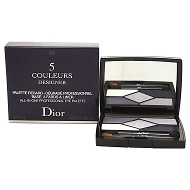 Christian Dior 5 Couleurs Designer AllInOne Professional Eye Palette # 208 Navy Design, 0.2 oz