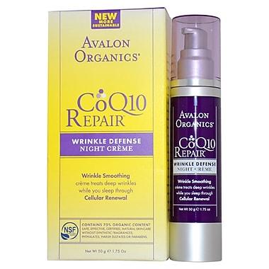 Avalon Organics CoQ10 Repair Wrinkle Defense Night Creme, 1.75 oz