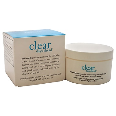Philosophy Clear Days Ahead Overnight Repair Salicylic Acid Acne Treatment Pads, 60/Pack