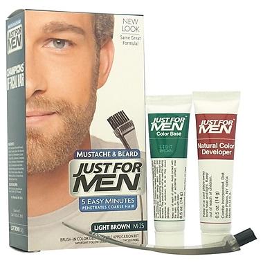 Just For Men Brush-In Color Gel Mustache-Beard & Sideburns, Light Brown # M-25, 1 Pc