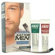 Just For Men Brush-In Color Gel Mustache-Beard & Sideburns, Light Brown # M-25, 1 Pc