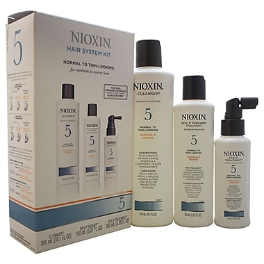 Nioxin System 5 Thinning Hair Kit For Medium/Coarse Nat. Normal - Thin Hair, 3 Pc
