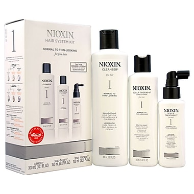 Nioxin System 1 Thinning Hair Kit For Fine Natural Normal - Thin Looking Hair, 3 Pc