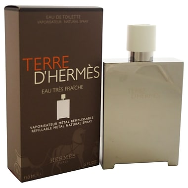 Hermes Terre D'Hermes Eau Tres Fraiche EDT Refillable Metal Spray, Men, 5 oz