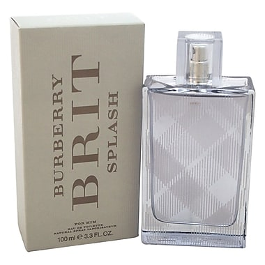 Burberry Brit Splash EDT Spray, Men, 3.3 oz