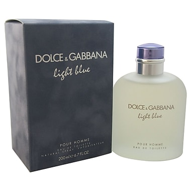 Dolce & Gabbana Light Blue EDT Spray, Men, 6.7 oz