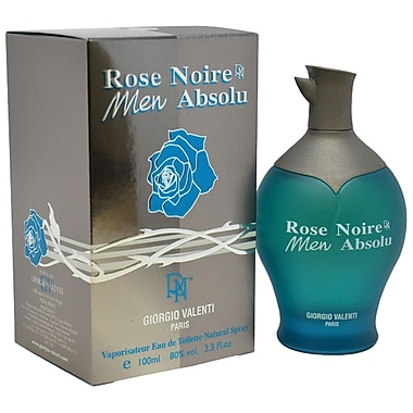 Giorgio Valenti Rose Noire Men Absolu EDT Spray, Men, 3.3 oz