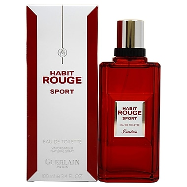 Guerlain Habit Rouge Sport EDT Spray, Men, 3.4 oz
