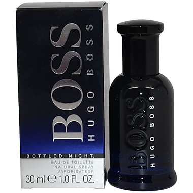 Hugo Boss Boss Bottled Night EDT Spray, Men, 3.3 oz