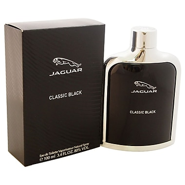Jaguar Classic Black EDT Spray, Men, 3.4 oz