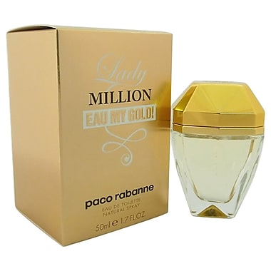 Paco Rabanne Lady Million Eau My Gold! EDT Spray, Women, 1.7 oz