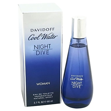 Zino Davidoff Cool Water Night Dive EDT Spray, Women, 2.7 oz