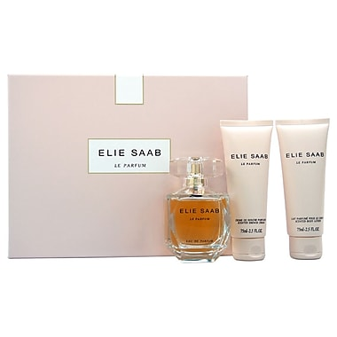 Elie Saab Le Parfum Set, Women, 3/Piece 3oz EDP Spray, 2.5oz Scented Body Lotion, 1oz Scented Shower Cream