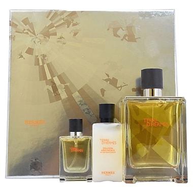 Hermes Terre D'Hermes Set, Men, 3/Piece 3.3oz EDT Spray, 0.42oz EDT Spray, 1.35oz Alcohol Free-Shave Balm