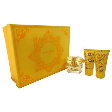 Versace Yellow Diamond Set, Women, 3/Piece 1.7oz EDT Spray, 1.7oz Shower Gel, 1.7oz Body Lotion