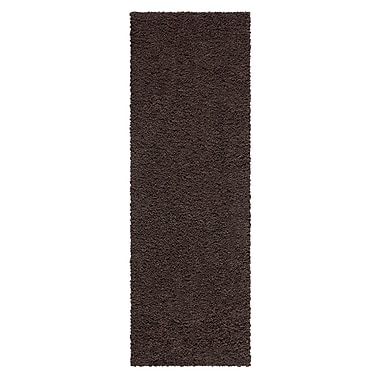 Maples Rugs Claire Brown Suede Area Rug; Runner 2' x 6'