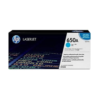 HP 650A (CE271A) Cartouche de toner HP LaserJet cyan d'origine