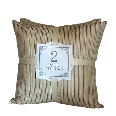 Kingray Home Textile Striped Throw Pillow (Set of 2)
