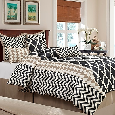 Nanshing America, Inc Josh 7 Piece Reversible Comforter Set; Queen