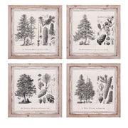 Woodland Imports Conifer 4 Piece Wall Decor Set