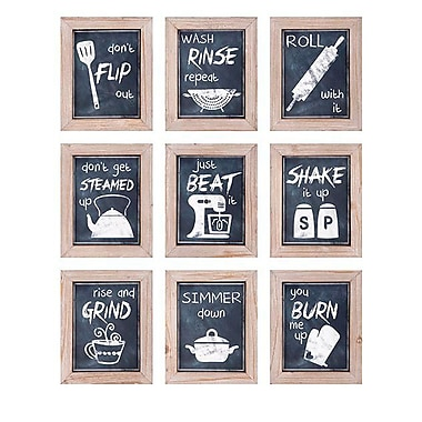 Woodland Imports 9 Piece Kitchen Inspirations Wall Decor