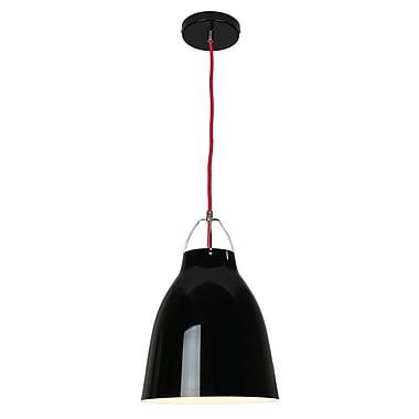 EQLight NY Industrial 1-Light Mini Pendant; 14.5'' H x 10'' W x 10'' D