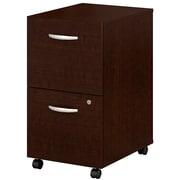 Bush Business Furniture Westfield 2 Drawer Mobile File Cabinet, Mocha Cherry, Installed (WC12952SUFA)