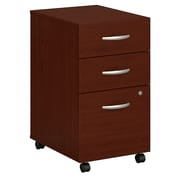Bush Business Furniture Westfield 3 Drawer Mobile File Cabinet, Mahogany, Installed (WC36753SUFA)