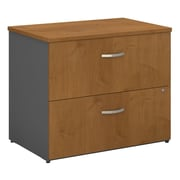 Bush Business Westfield 36W 2Dwr Lateral File, Natural Cherry/Graphite Gray, Installed