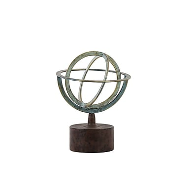 Urban Trends Metal Orb Dyson Sphere Sculpture; 13.25'' H x 10.25'' W x 10.25'' D