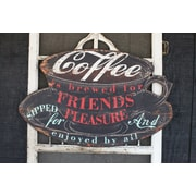 Creative Co-Op Casual Country Coffee Is Brewed Wall D cor