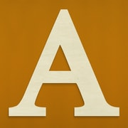 Unfinished Wood Co. Oversized Wood Greek Letter Wall D cor; Alpha