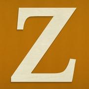 Unfinished Wood Co. Oversized Wood Greek Letter Wall D cor; Zeta