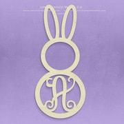 Unfinished Wood Co. Unfinished Monogram Bunny Decor; A