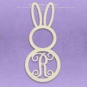 Unfinished Wood Co. Unfinished Monogram Bunny Decor; R