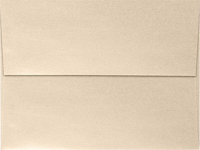 LUX A7 Invitation Envelopes (5 1/4 x 7 1/4) 50/Box, Taupe Metallic (5380-M09-50)