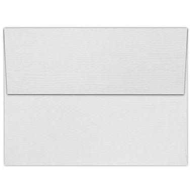LUX A7 Invitation Envelopes (5 1/4 x 7 1/4) 50/Box, White Birch Woodgrain (5380-S02-50)