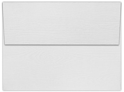 LUX A7 Invitation Envelopes (5 1/4 x 7 1/4) 50/Box, White Birch Woodgrain (5380-S02-50)