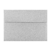 LUX A7 Invitation Envelopes (5 1/4 x 7 1/4) 50/Box, Silver Sparkle (5370-MS01-50)