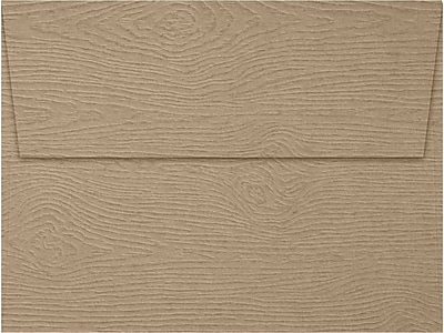 LUX A7 Invitation Envelopes (5 1/4 x 7 1/4) 1000/Box, Oak Woodgrain (5380-S01-1000)