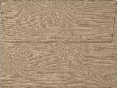 LUX A7 Invitation Envelopes (5 1/4 x 7 1/4) 500/Box, Oak Woodgrain (5380-S01-500)