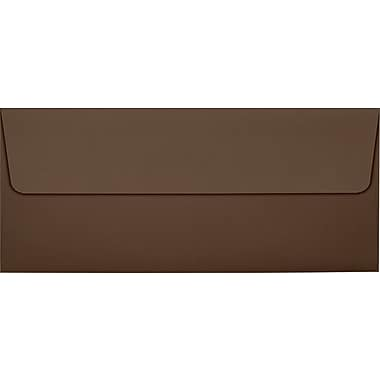 LUX #10 Square Flap Envelopes (4 1/8 x 9 1/2) 50/box, Chocolate (EX4860-17-50)